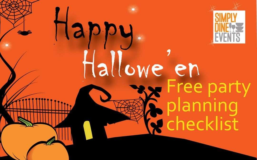 Halloween party checklist